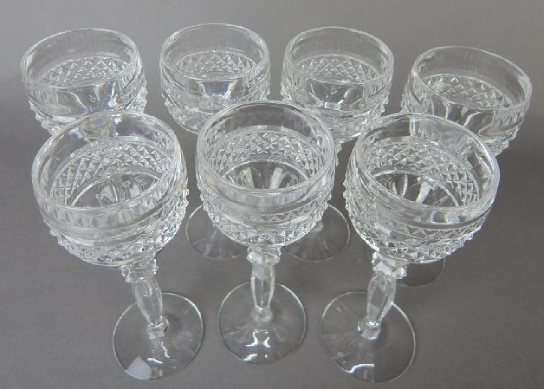 Seven Liquor Cut Glass Stems - 2