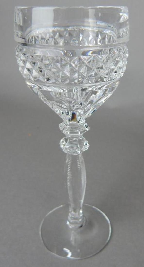 Seven Liquor Cut Glass Stems - 3
