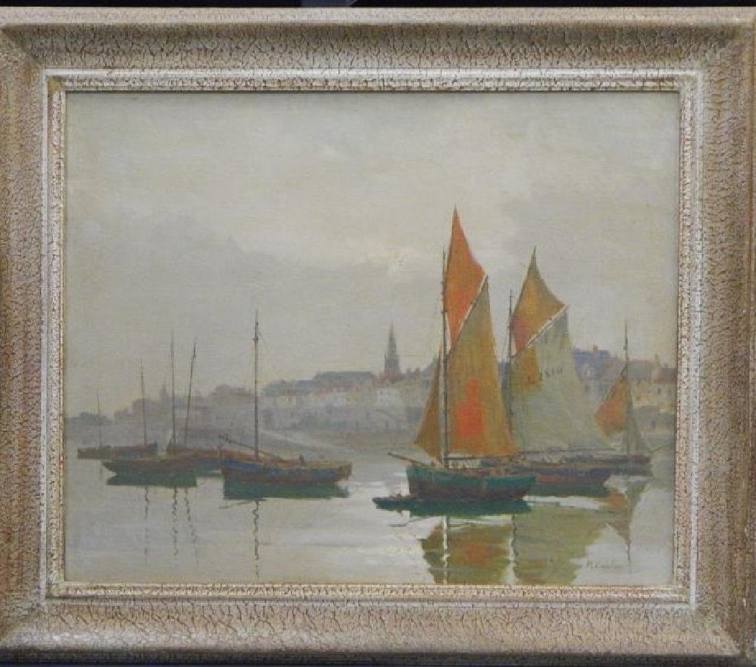 Rene Coulon (1876-) Oil on Canvas Painting
