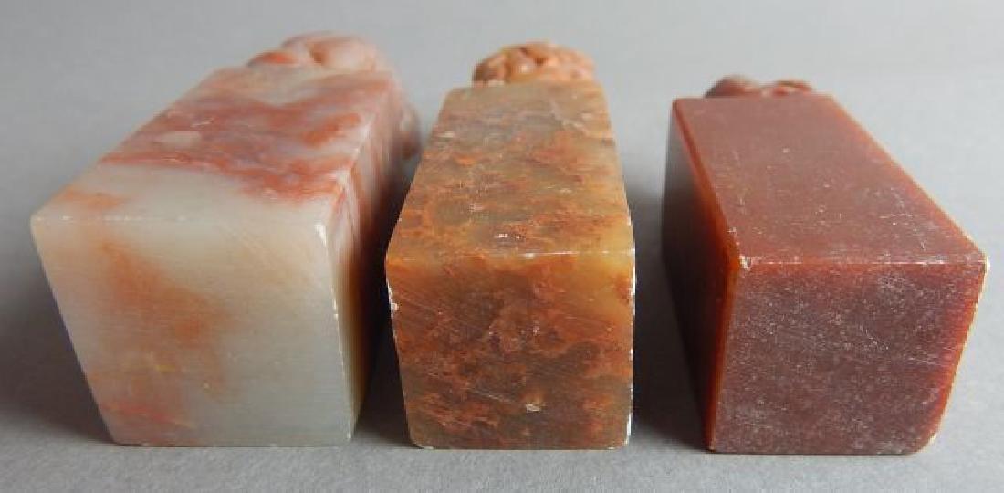 Three Foo Lion Stone Stamps - 5