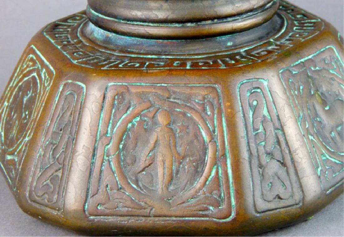 Tiffany Studios NY Bronze Zodiac Inkwell - 2