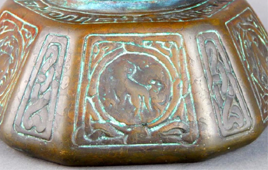 Tiffany Studios NY Bronze Zodiac Inkwell - 3