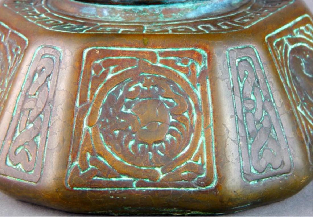 Tiffany Studios NY Bronze Zodiac Inkwell - 4