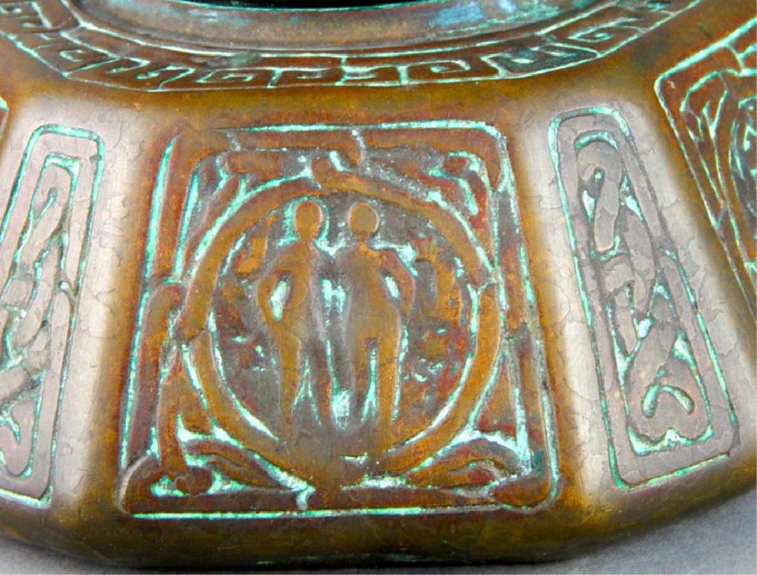 Tiffany Studios NY Bronze Zodiac Inkwell - 5