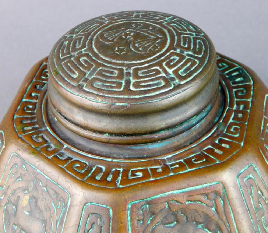 Tiffany Studios NY Bronze Zodiac Inkwell - 6