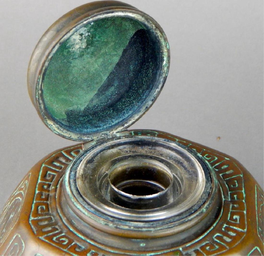 Tiffany Studios NY Bronze Zodiac Inkwell - 7