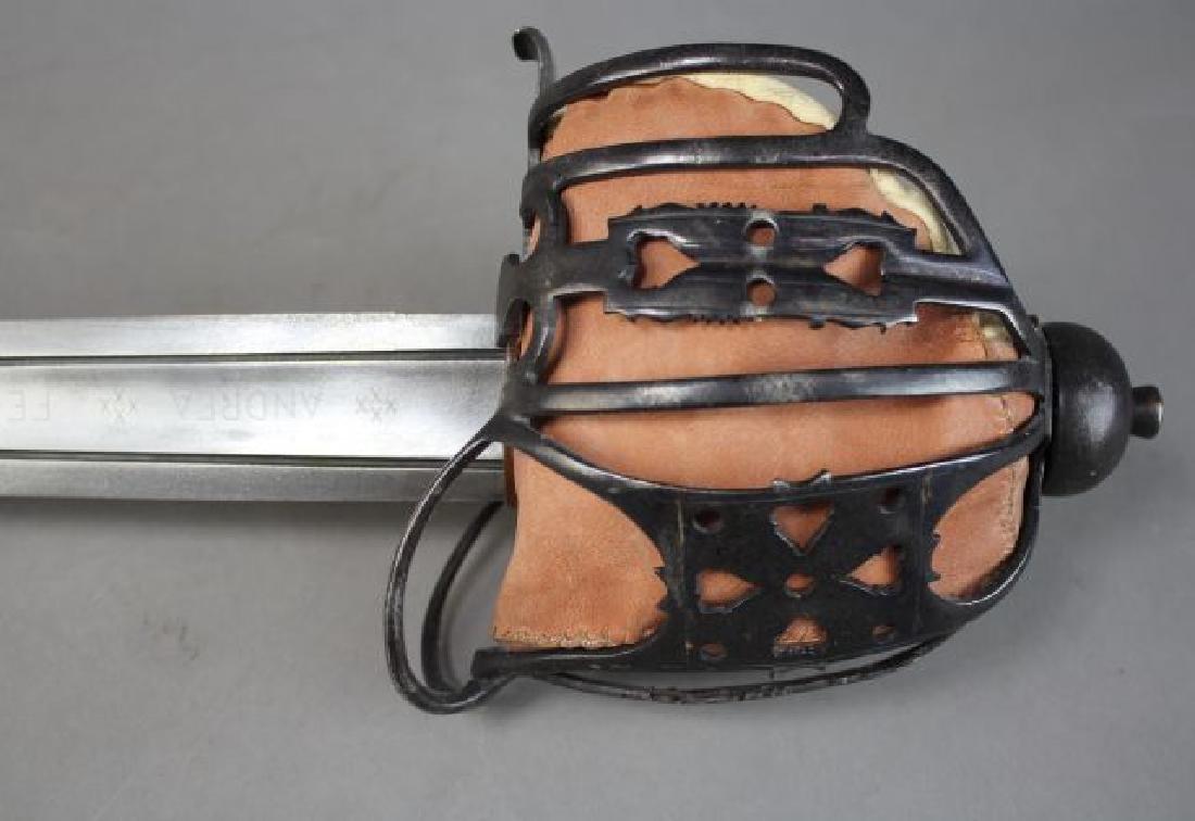 Andrea Ferara Sword with Leather Scabbard - 4