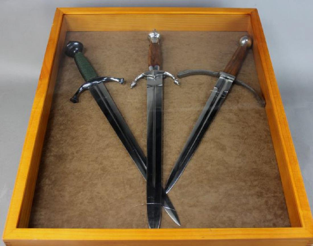 Three Daggers in Display Case