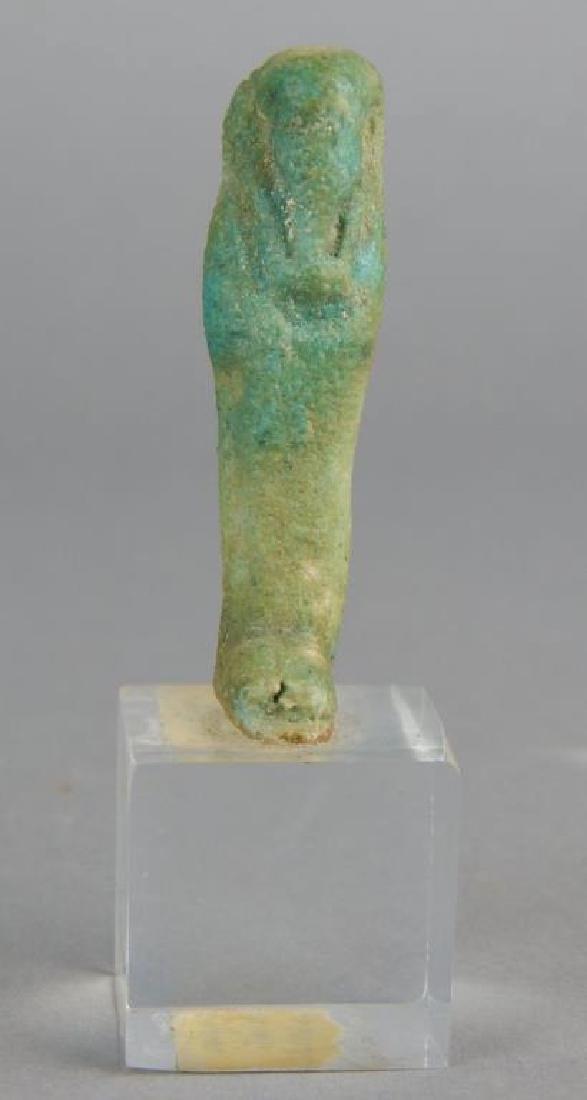 600BC Egyptian Clay Ushabti on Lucite Base