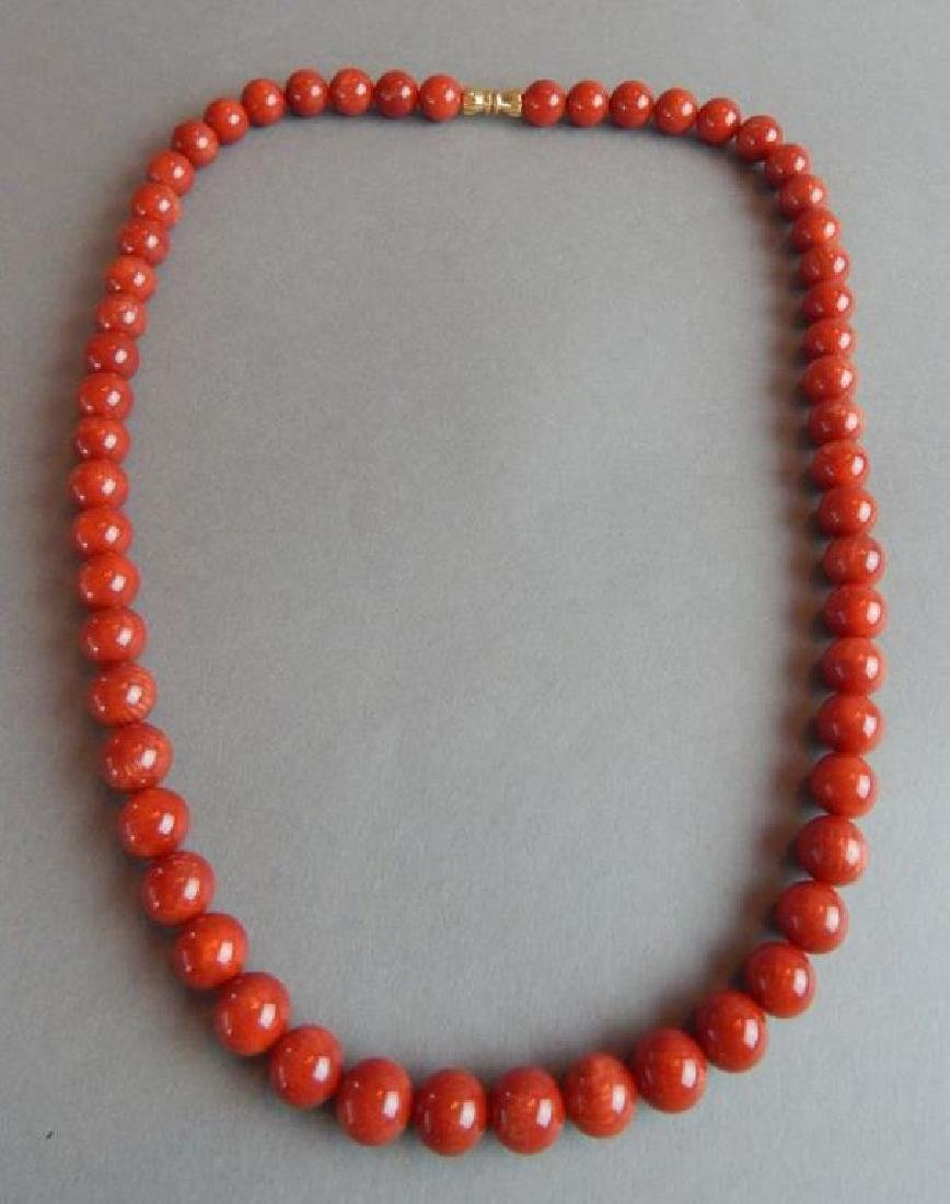 Dark Coral Necklace
