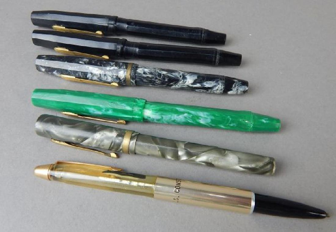 Five Old Fountain Pens