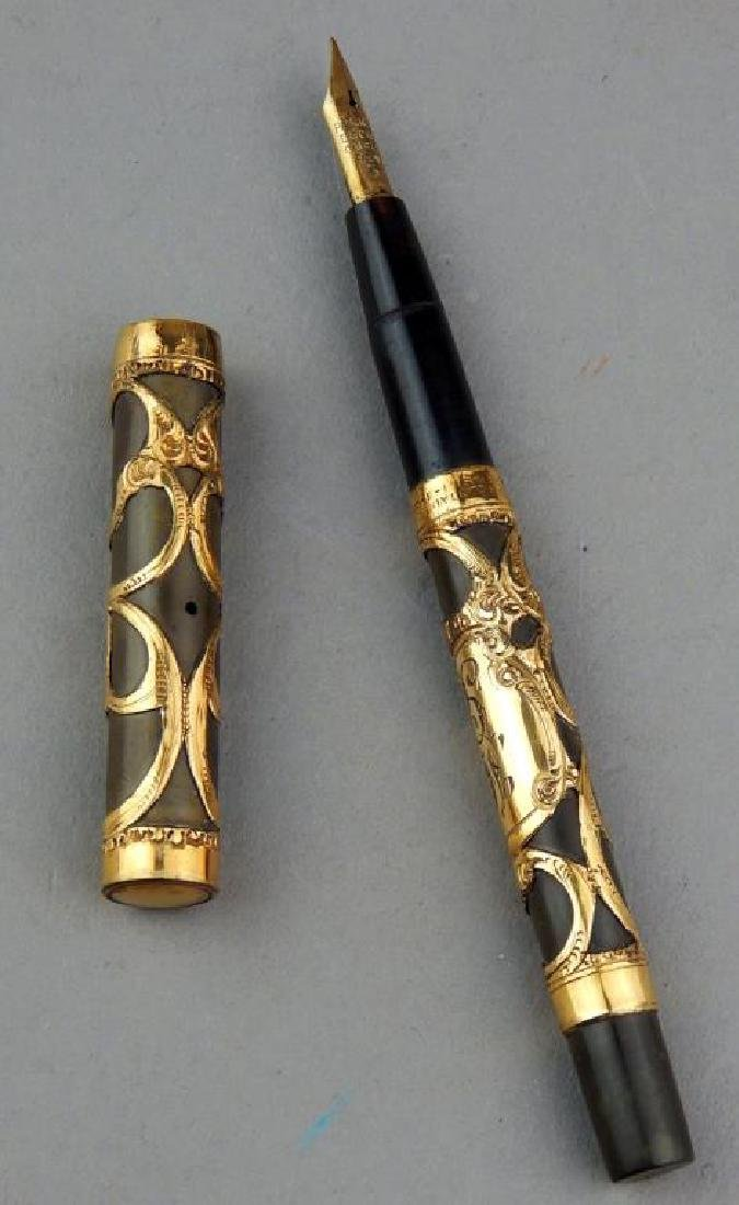 Parker Lucky Curve Ladies Gold Filigree Ink Pen - 5