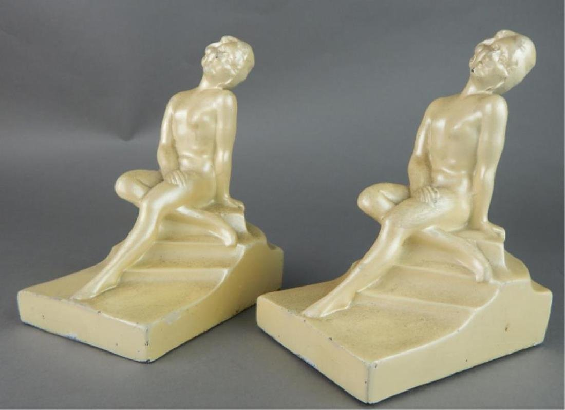 Art Deco Nude Art Pottery Bookends