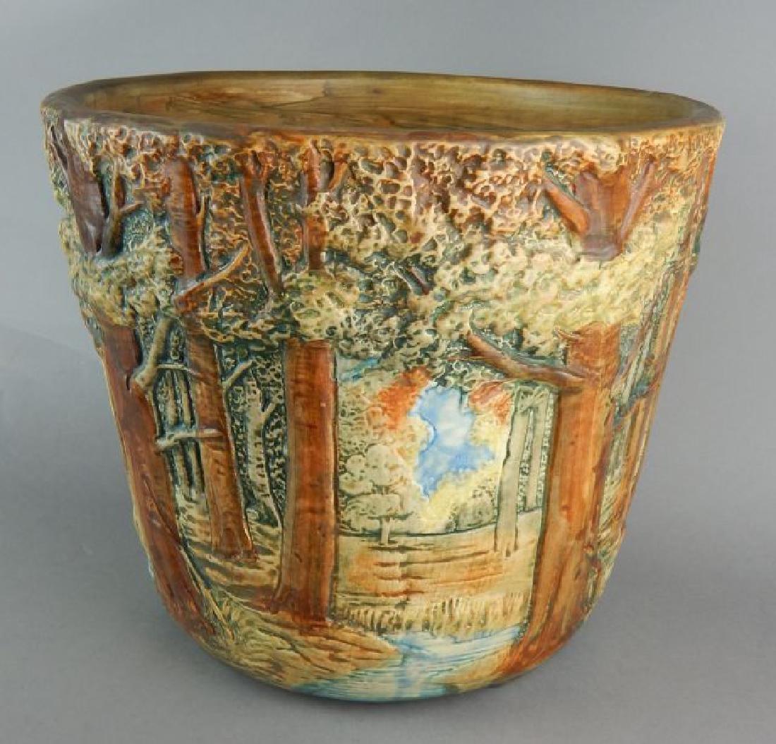 Weller Forest Scene Art Pottery Jardiniere