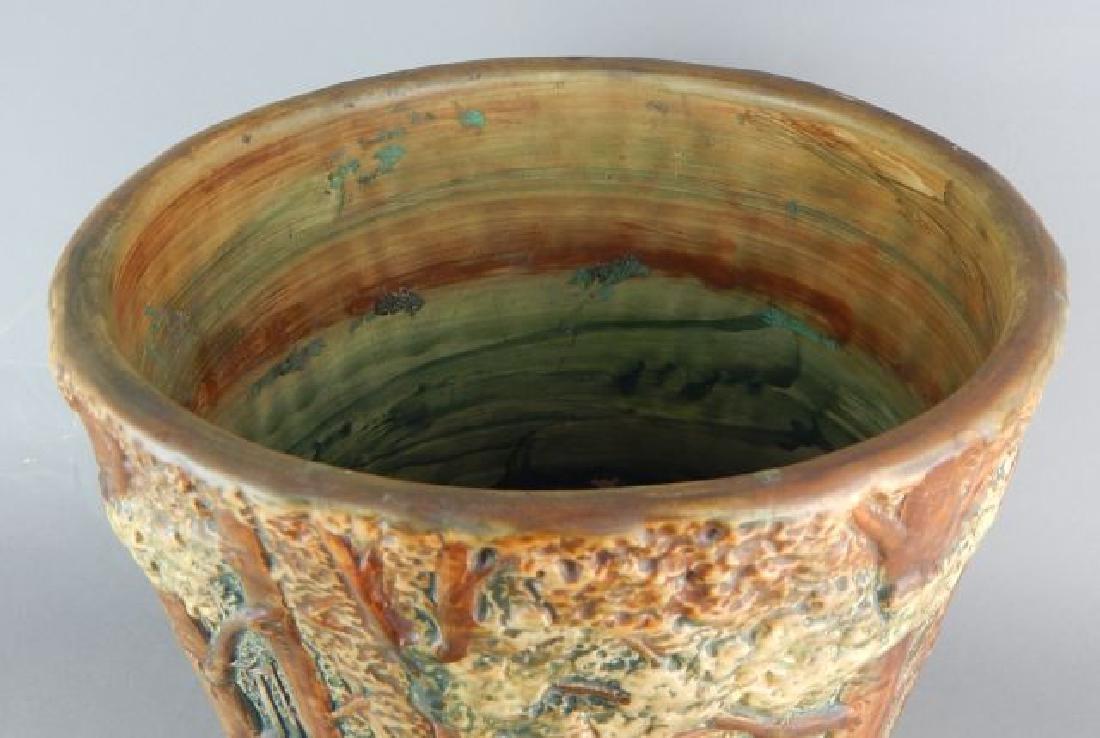 Weller Forest Scene Art Pottery Jardiniere - 5