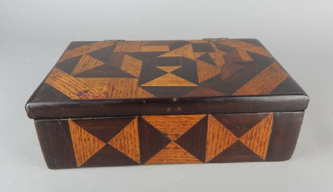 Vintage Tramp Art Inlaid Box