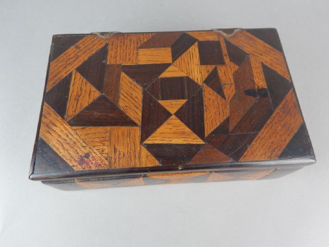 Vintage Tramp Art Inlaid Box - 2