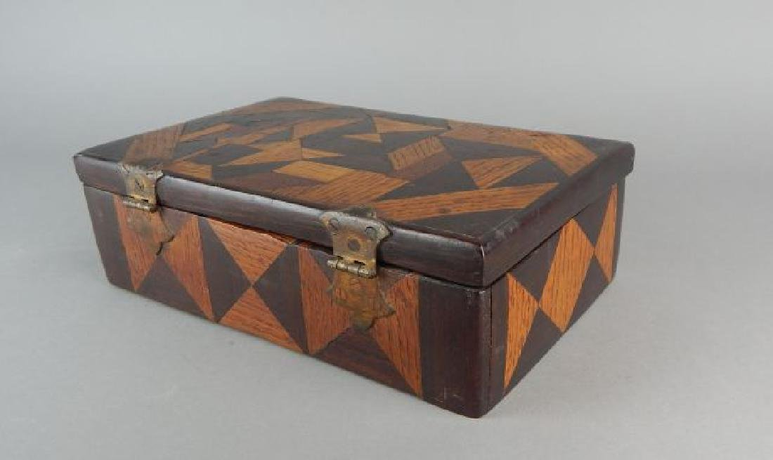 Vintage Tramp Art Inlaid Box - 3