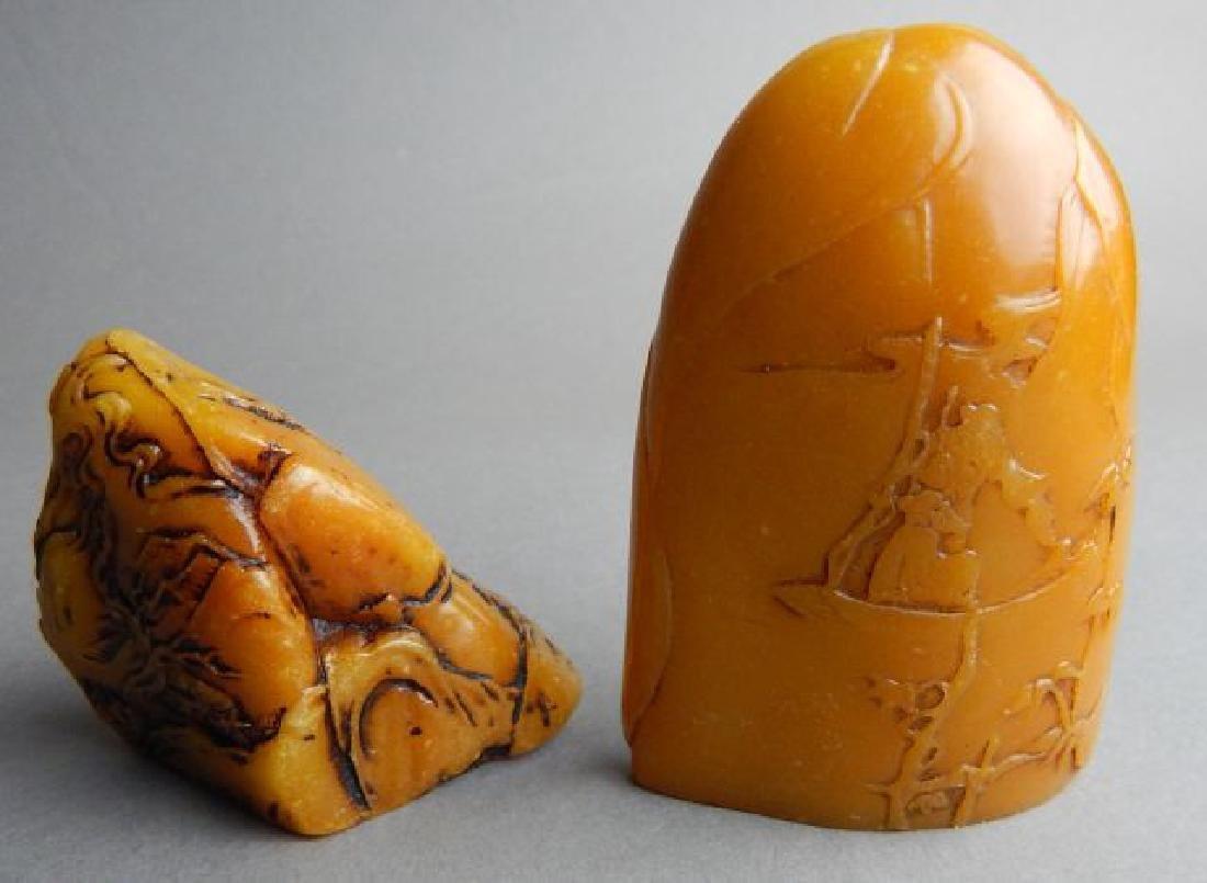 Two Shou Shan Stone Carvings