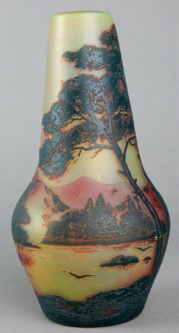 De Vez Cameo Art Glass Vase - 2