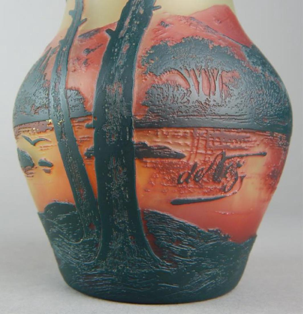 De Vez Cameo Art Glass Vase - 7