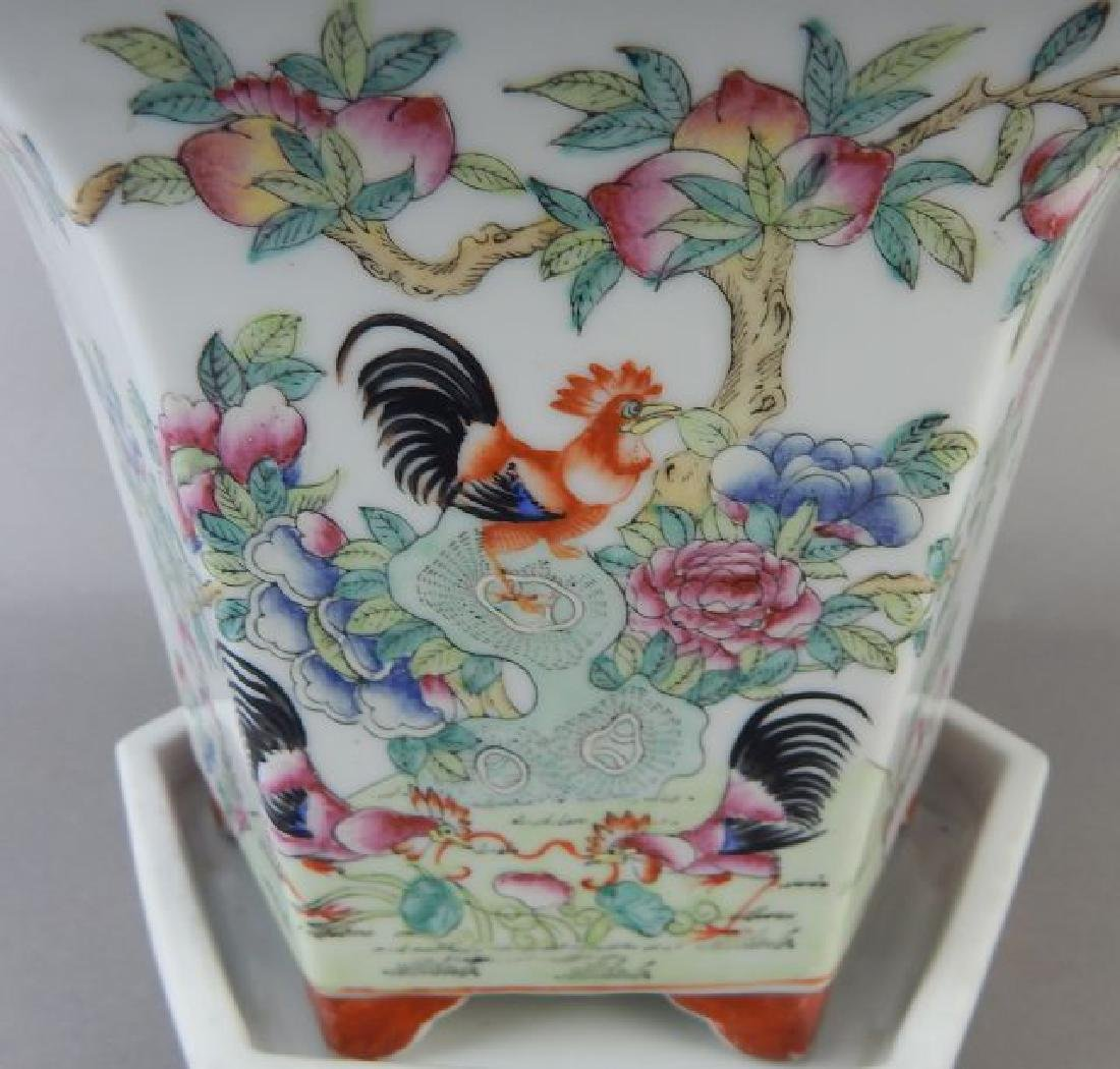 Hand Painted Porcelain Planter - 2