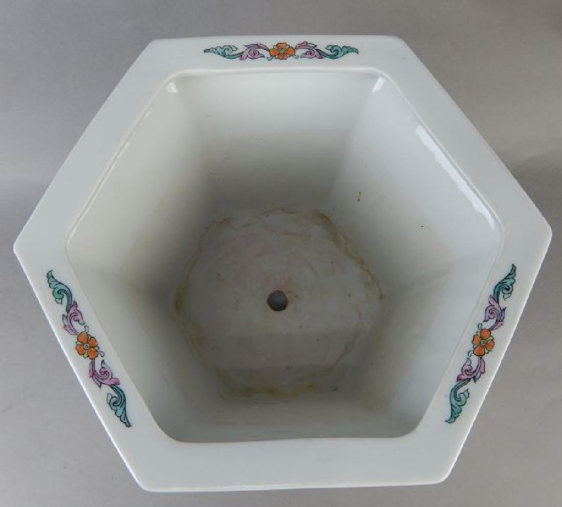 Hand Painted Porcelain Planter - 4