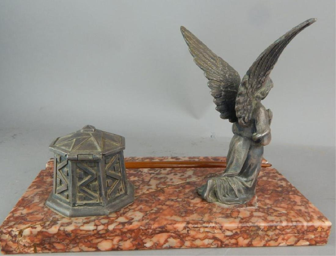 Guardian Angel Inkwell on Rouge Marble - 2