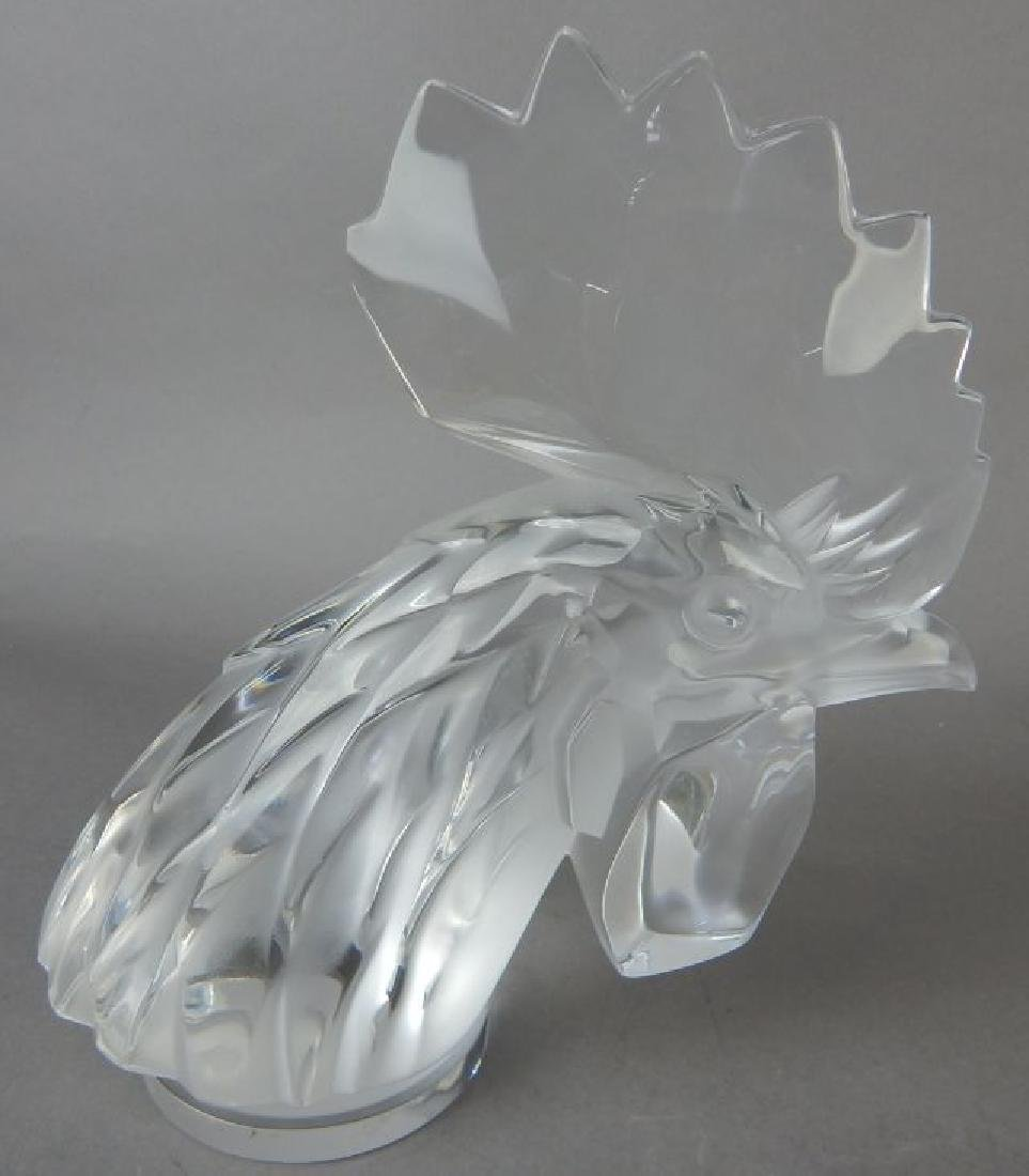 Lalique Signed Rooster
