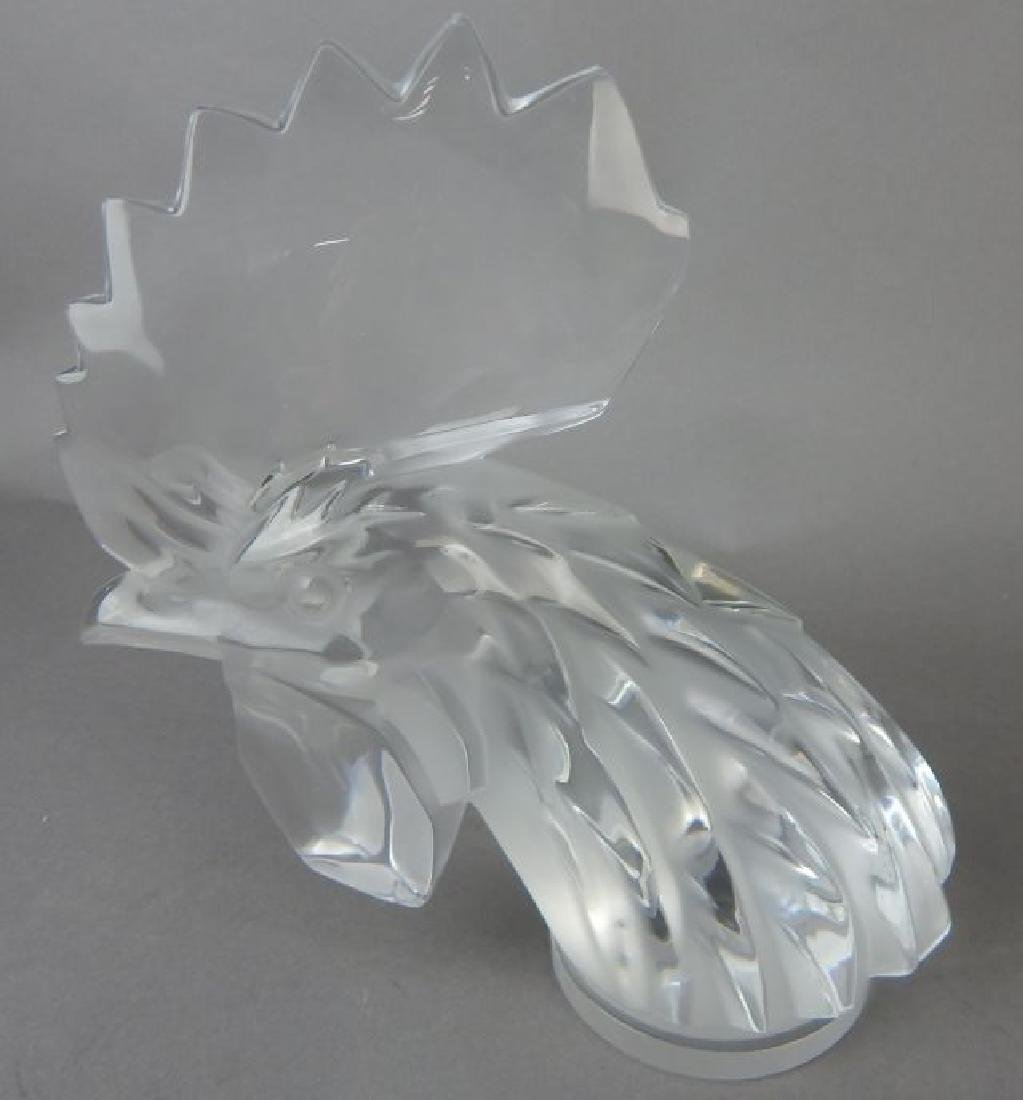 Lalique Signed Rooster - 2