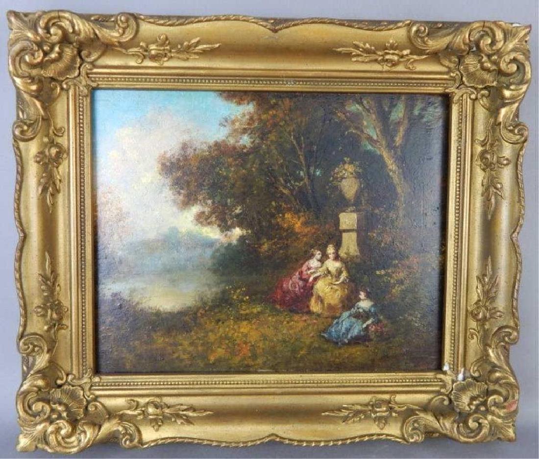 19th C Oil Painting After Narcisse Virgil Diaz