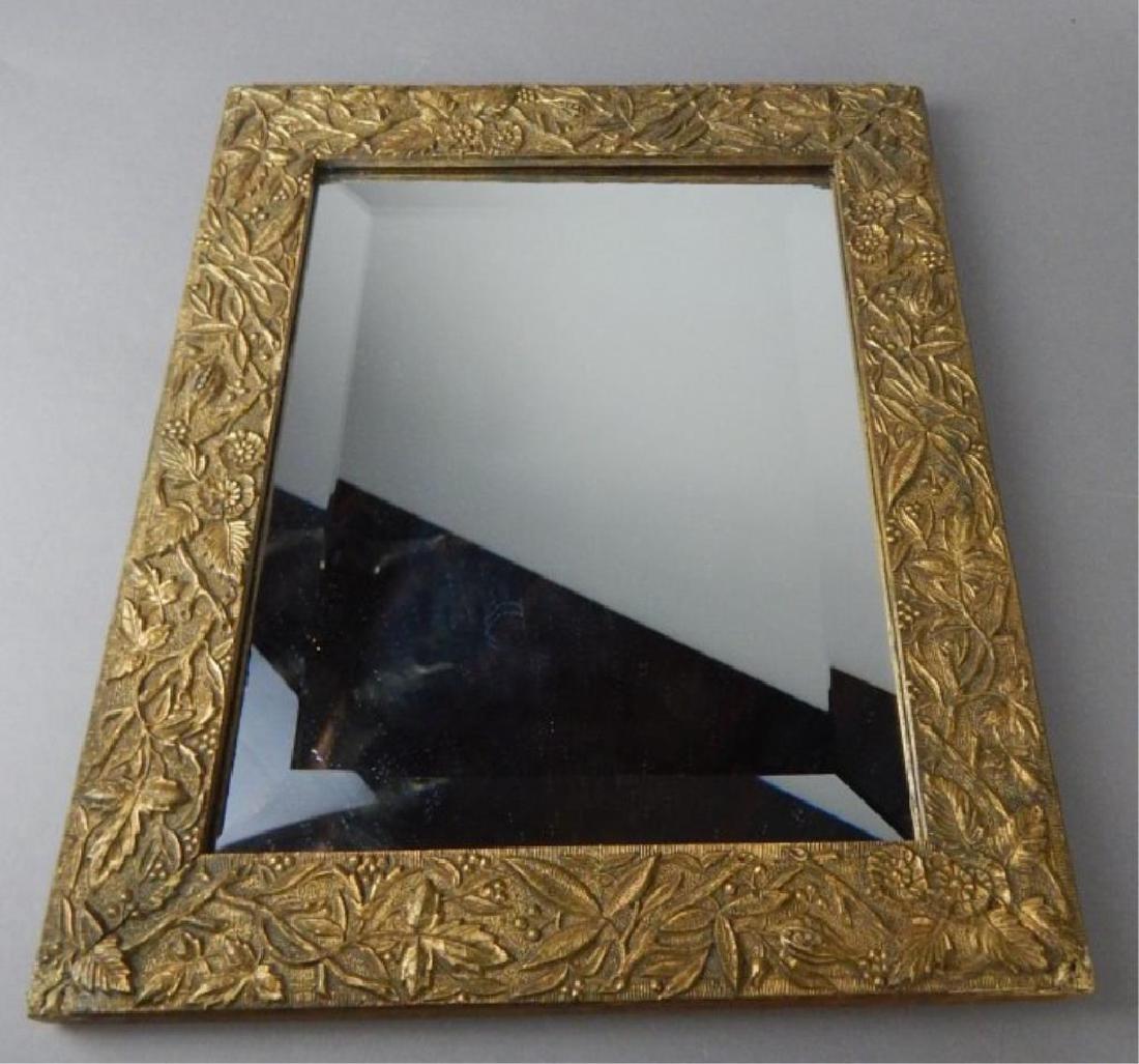 Old Framed Beveled Mirror