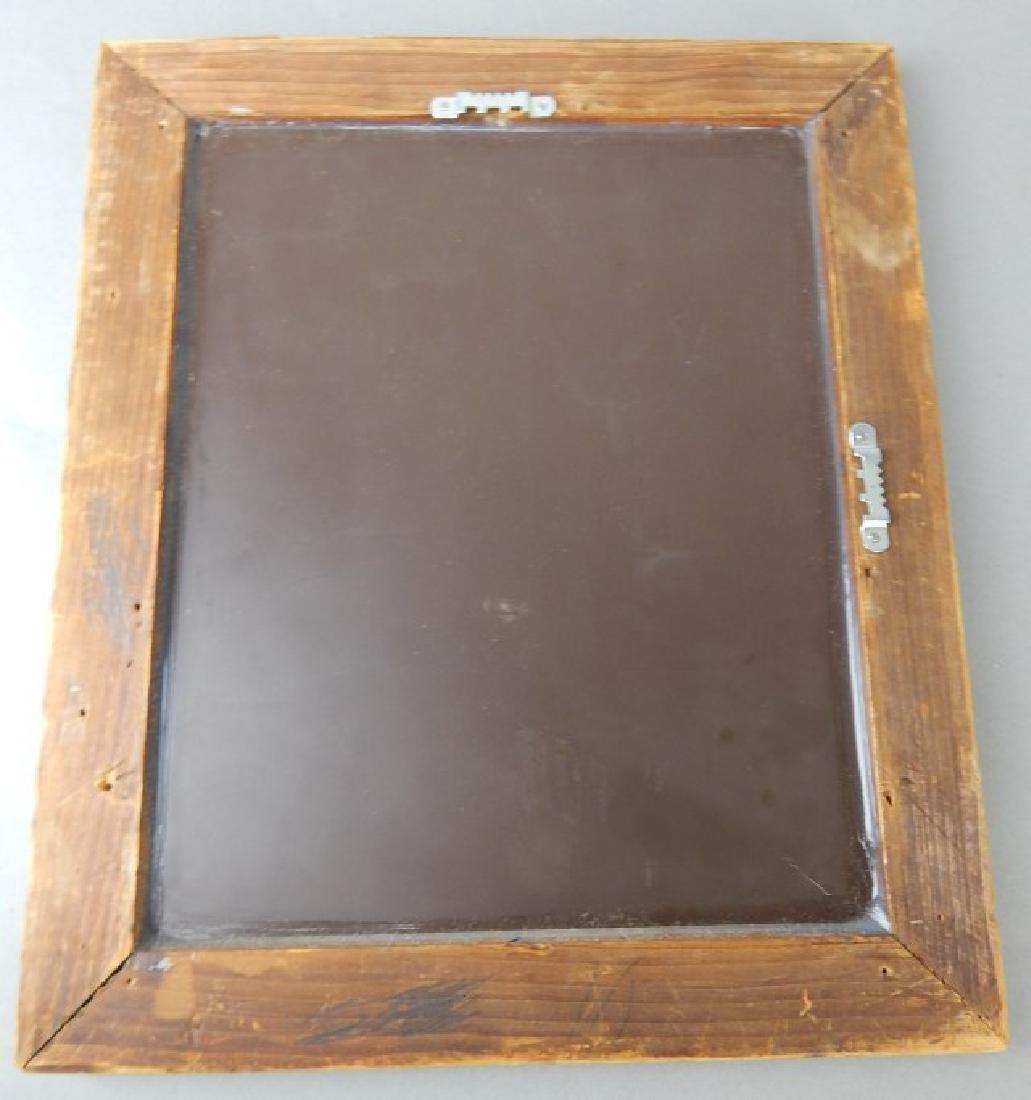 Old Framed Beveled Mirror - 3