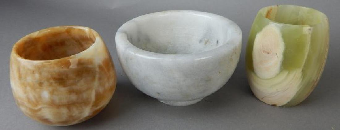 Group of Marble Cups and Bowls - 2