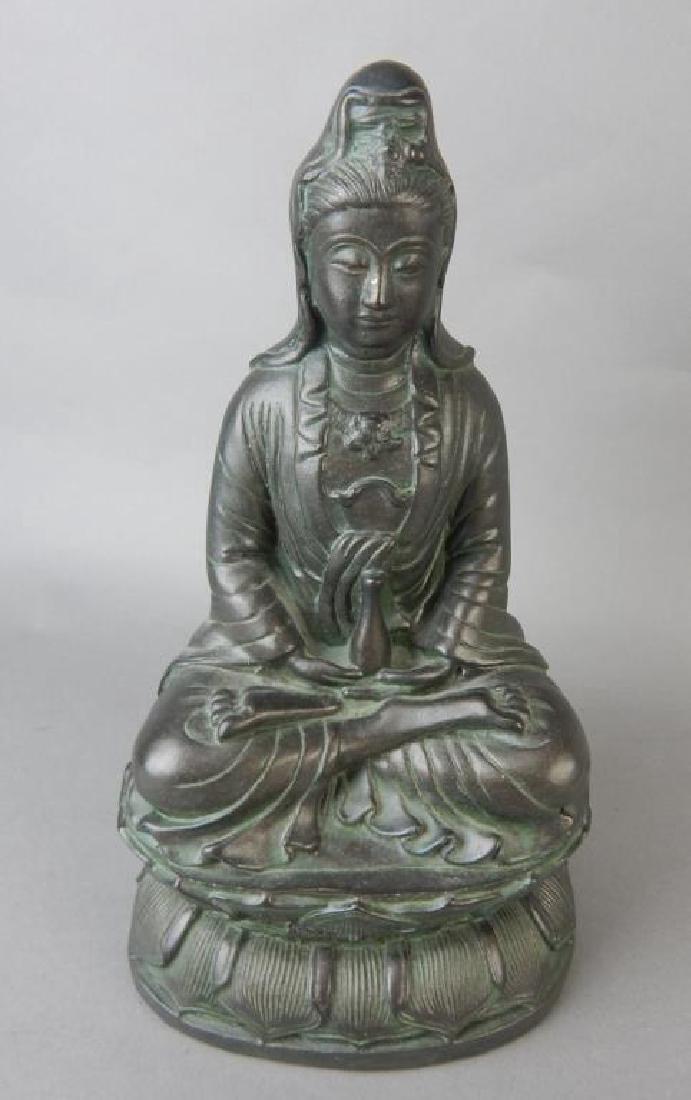 Quan Yin Metal Statue