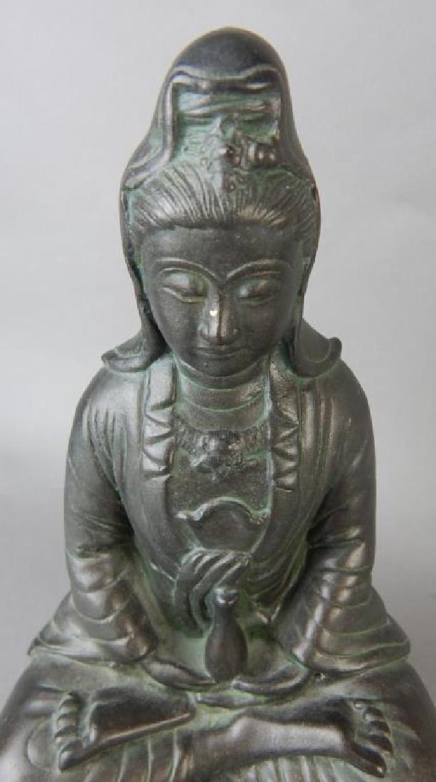 Quan Yin Metal Statue - 2