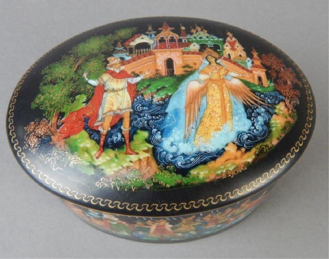 Group of Hand Painted Tray, Boxes and Plaques - 2