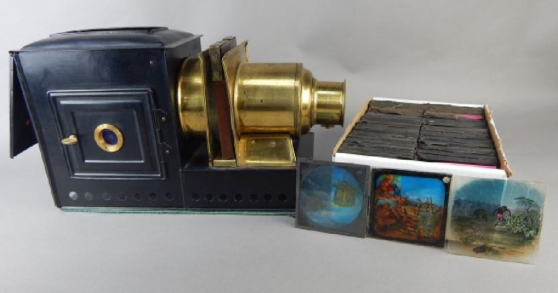 Magic Lantern W/ Colored Glass Slides