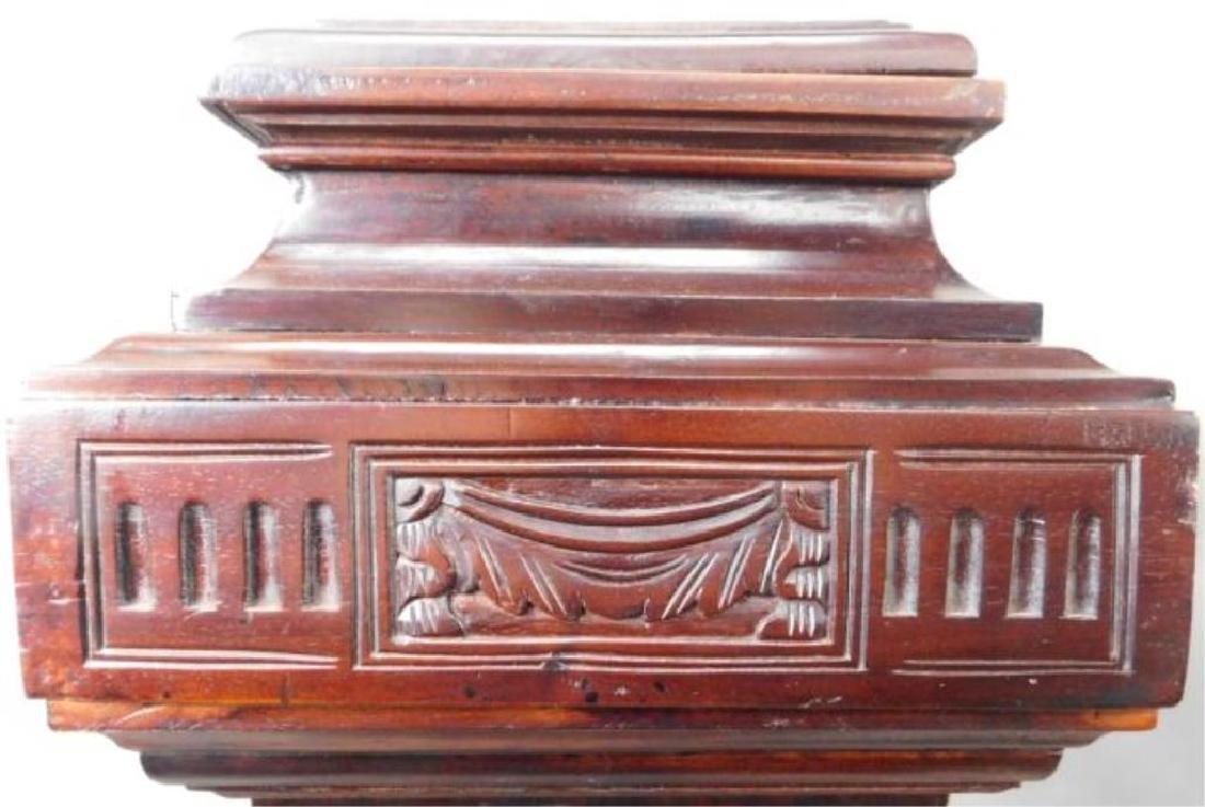 Dark Wood Carved Pedestals - 2