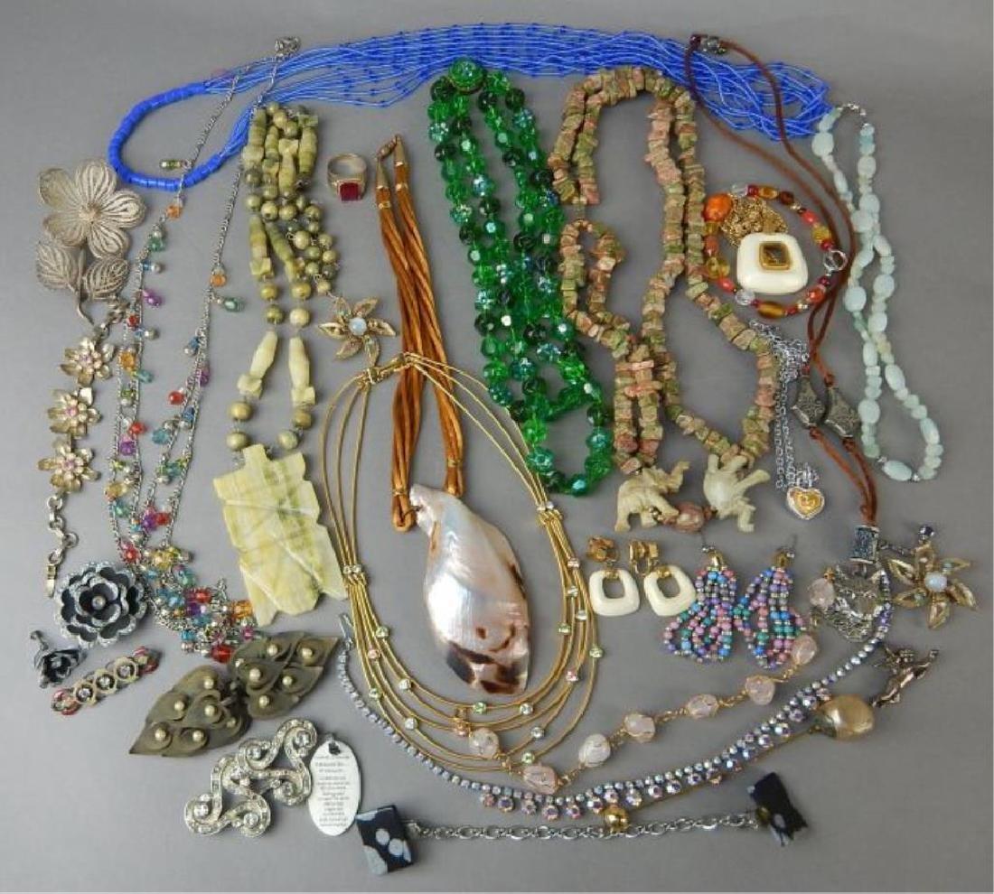 Assortment of 1950's - 1980's Jewelry