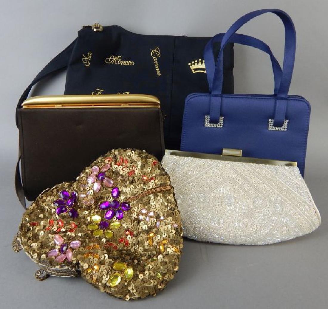 Four Evening Bags & One Cloth Bag - 2