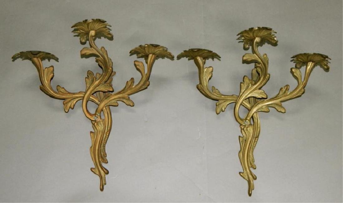 Pair of Empire Style Louis XIV Wall Sconce