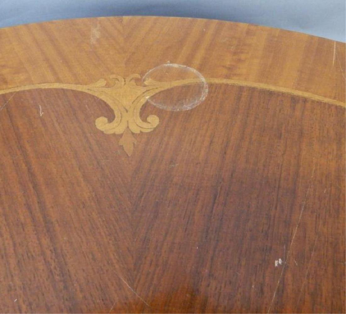 Round Marquetry Top Table - 2