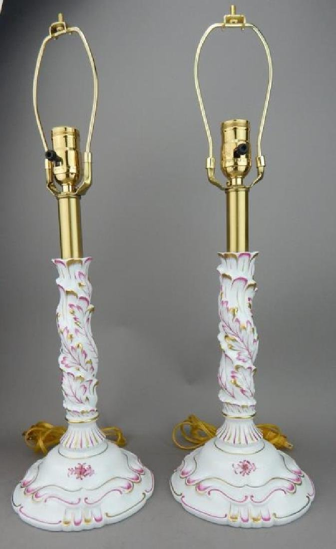 Two Herend Porcelain Lamps
