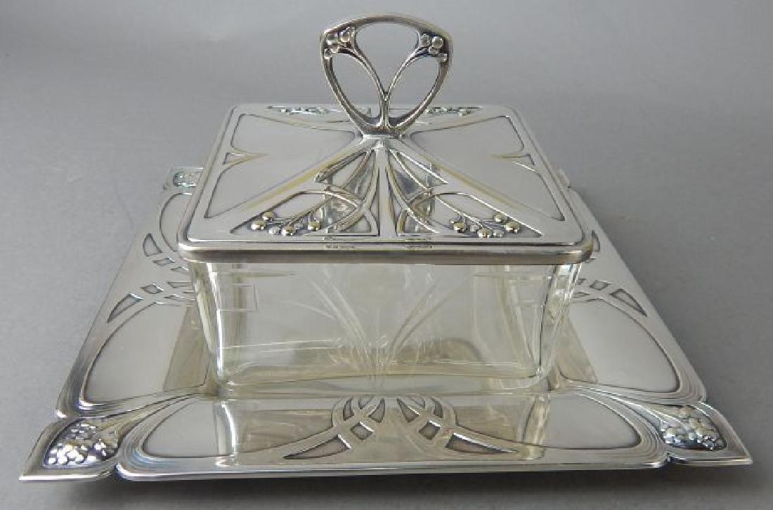 Art Deco English Butter Dish