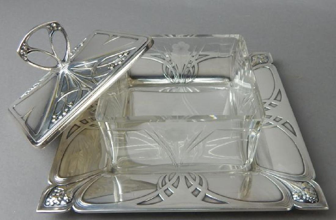 Art Deco English Butter Dish - 3