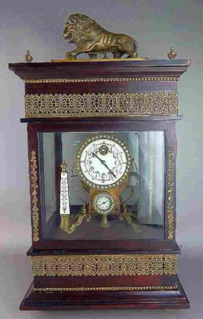 French Style Gilt Bronze Ferris Wheel Clock