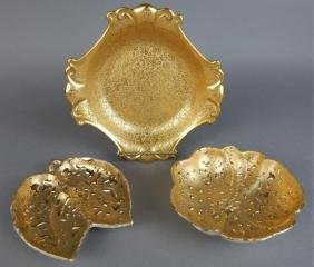22k Gold Leaf Accent Dishes