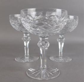 Three Waterford Crystal Powerscourt Stemware