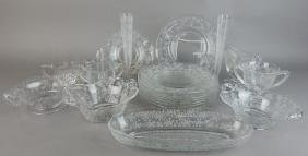 Nineteen Piece Etched American Glass